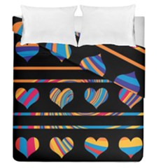 Colorful harts pattern Duvet Cover Double Side (Queen Size)