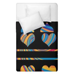 Colorful harts pattern Duvet Cover Double Side (Single Size)