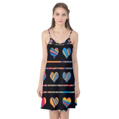 Colorful harts pattern Camis Nightgown