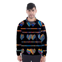 Colorful harts pattern Wind Breaker (Men)