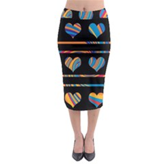 Colorful harts pattern Midi Pencil Skirt