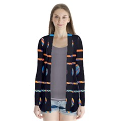 Colorful harts pattern Cardigans