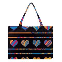 Colorful harts pattern Medium Tote Bag