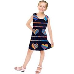 Colorful harts pattern Kids  Tunic Dress