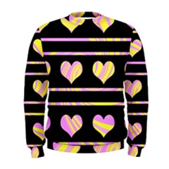 Pink and yellow harts pattern Men s Sweatshirt