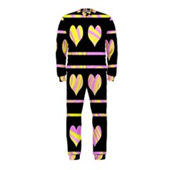 Pink and yellow harts pattern OnePiece Jumpsuit (Kids)