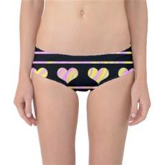 Pink and yellow harts pattern Classic Bikini Bottoms