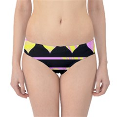 Pink and yellow harts pattern Hipster Bikini Bottoms