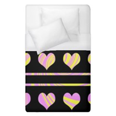 Pink and yellow harts pattern Duvet Cover (Single Size)
