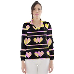 Pink and yellow harts pattern Wind Breaker (Women)