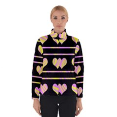 Pink and yellow harts pattern Winterwear