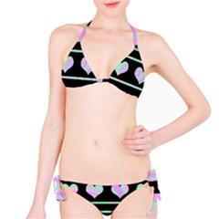 Pastel harts pattern Bikini Set