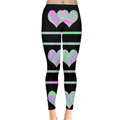 Pastel harts pattern Leggings