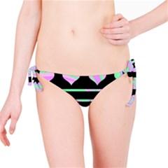 Pastel harts pattern Bikini Bottom
