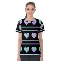 Pastel harts pattern Women s Cotton Tee