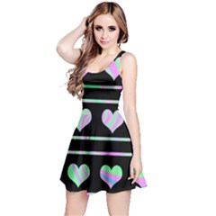 Pastel harts pattern Reversible Sleeveless Dress