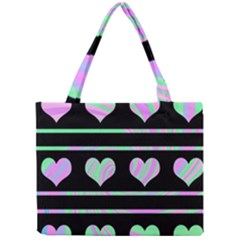 Pastel harts pattern Mini Tote Bag