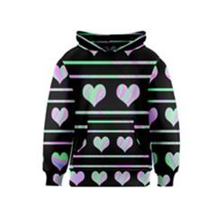 Pastel harts pattern Kids  Pullover Hoodie