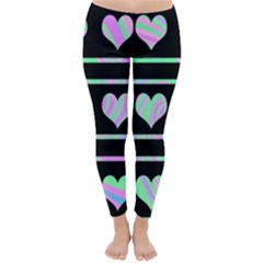 Pastel harts pattern Classic Winter Leggings
