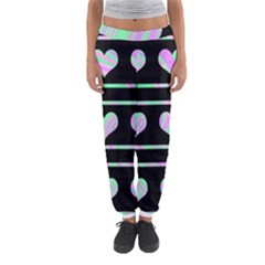 Pastel harts pattern Women s Jogger Sweatpants