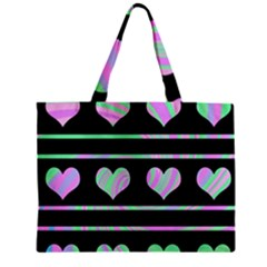 Pastel harts pattern Zipper Mini Tote Bag