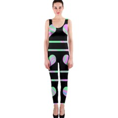 Pastel harts pattern OnePiece Catsuit