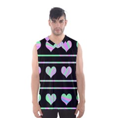 Pastel harts pattern Men s Basketball Tank Top