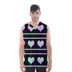 Pastel harts pattern Men s Basketball Tank Top