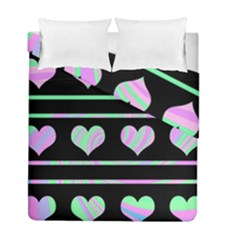 Pastel harts pattern Duvet Cover Double Side (Full/ Double Size)