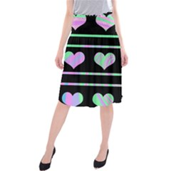 Pastel harts pattern Midi Beach Skirt