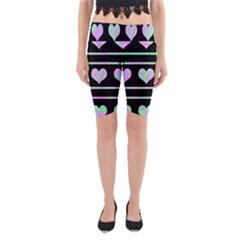 Pastel harts pattern Yoga Cropped Leggings