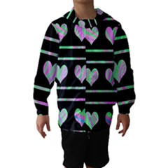 Pastel harts pattern Hooded Wind Breaker (Kids)