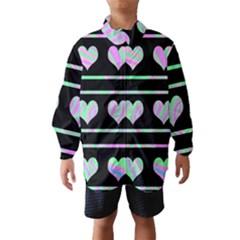 Pastel harts pattern Wind Breaker (Kids)