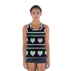 Pastel harts pattern Women s Sport Tank Top
