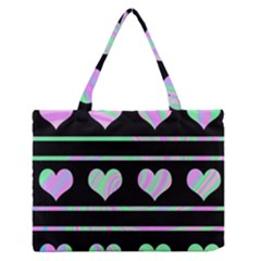 Pastel harts pattern Medium Zipper Tote Bag