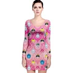 Alice In Wonderland Long Sleeve Velvet Bodycon Dress