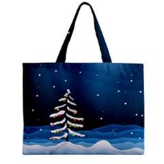 Christmas Xmas Fall Tree Zipper Mini Tote Bag