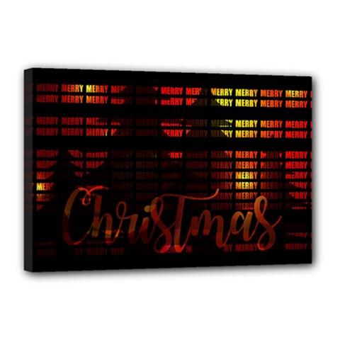 Christmas Advent Gloss Sparkle Canvas 18  x 12