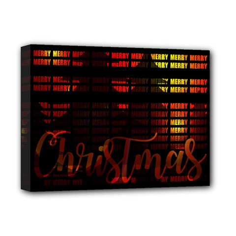 Christmas Advent Gloss Sparkle Deluxe Canvas 16  x 12
