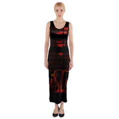 Christmas Advent Gloss Sparkle Fitted Maxi Dress