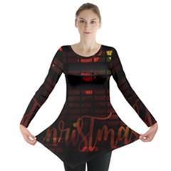 Christmas Advent Gloss Sparkle Long Sleeve Tunic