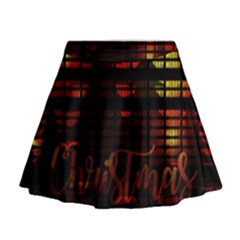 Christmas Advent Gloss Sparkle Mini Flare Skirt