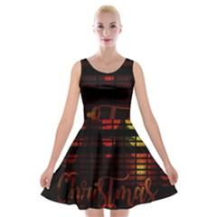 Christmas Advent Gloss Sparkle Velvet Skater Dress