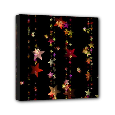 Christmas Star Advent Golden Mini Canvas 6  x 6