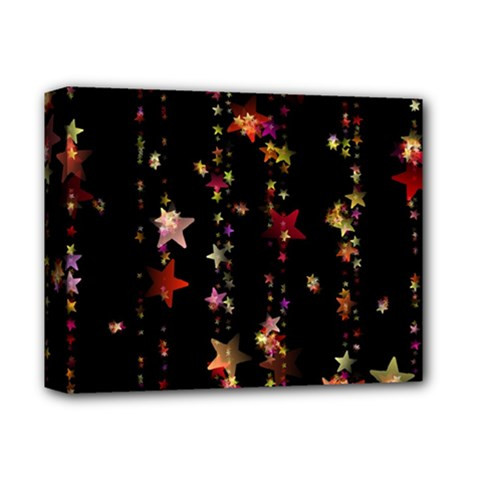 Christmas Star Advent Golden Deluxe Canvas 14  x 11