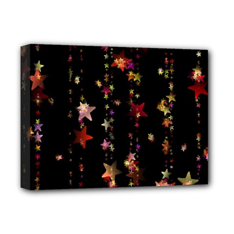 Christmas Star Advent Golden Deluxe Canvas 16  x 12