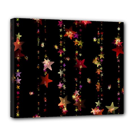 Christmas Star Advent Golden Deluxe Canvas 24  x 20