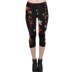Christmas Star Advent Golden Capri Leggings