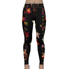 Christmas Star Advent Golden Classic Yoga Leggings
