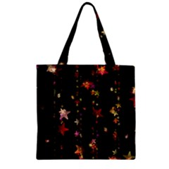 Christmas Star Advent Golden Zipper Grocery Tote Bag